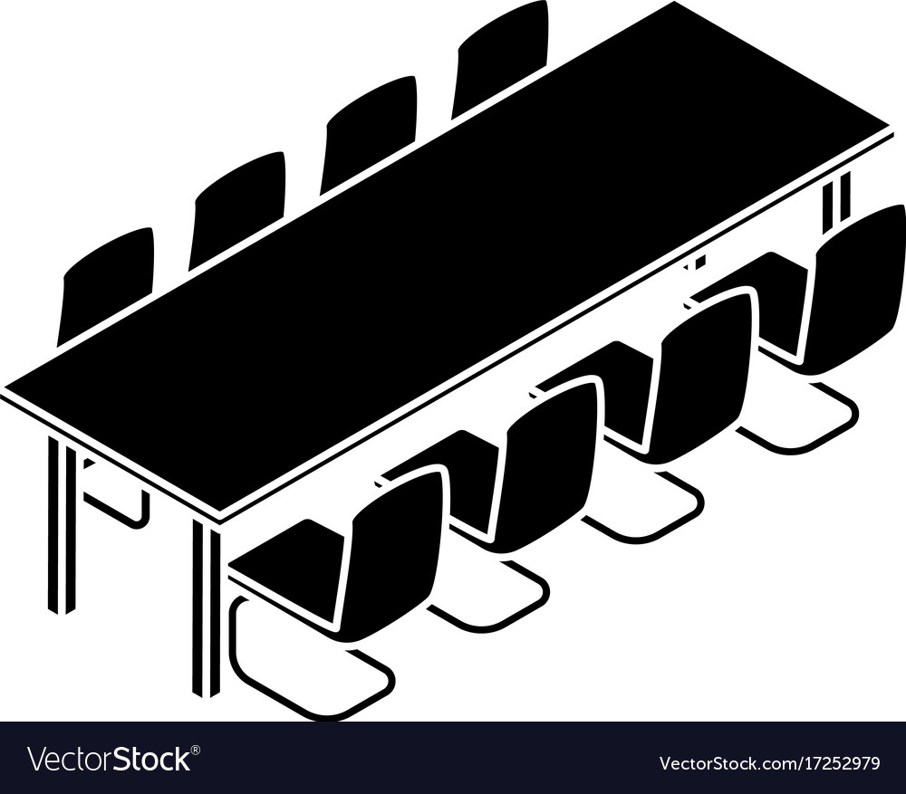Long meet table icon simple style vector image