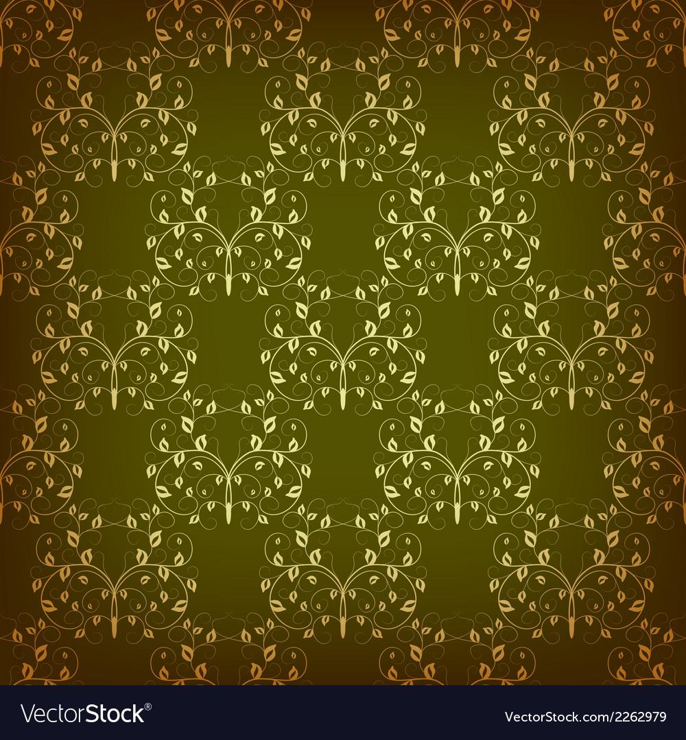 Vintage seamless pattern with swirls