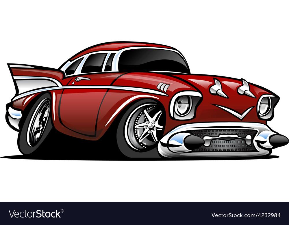 American Classic Muscle Car Cartoon Royalty Free Vector