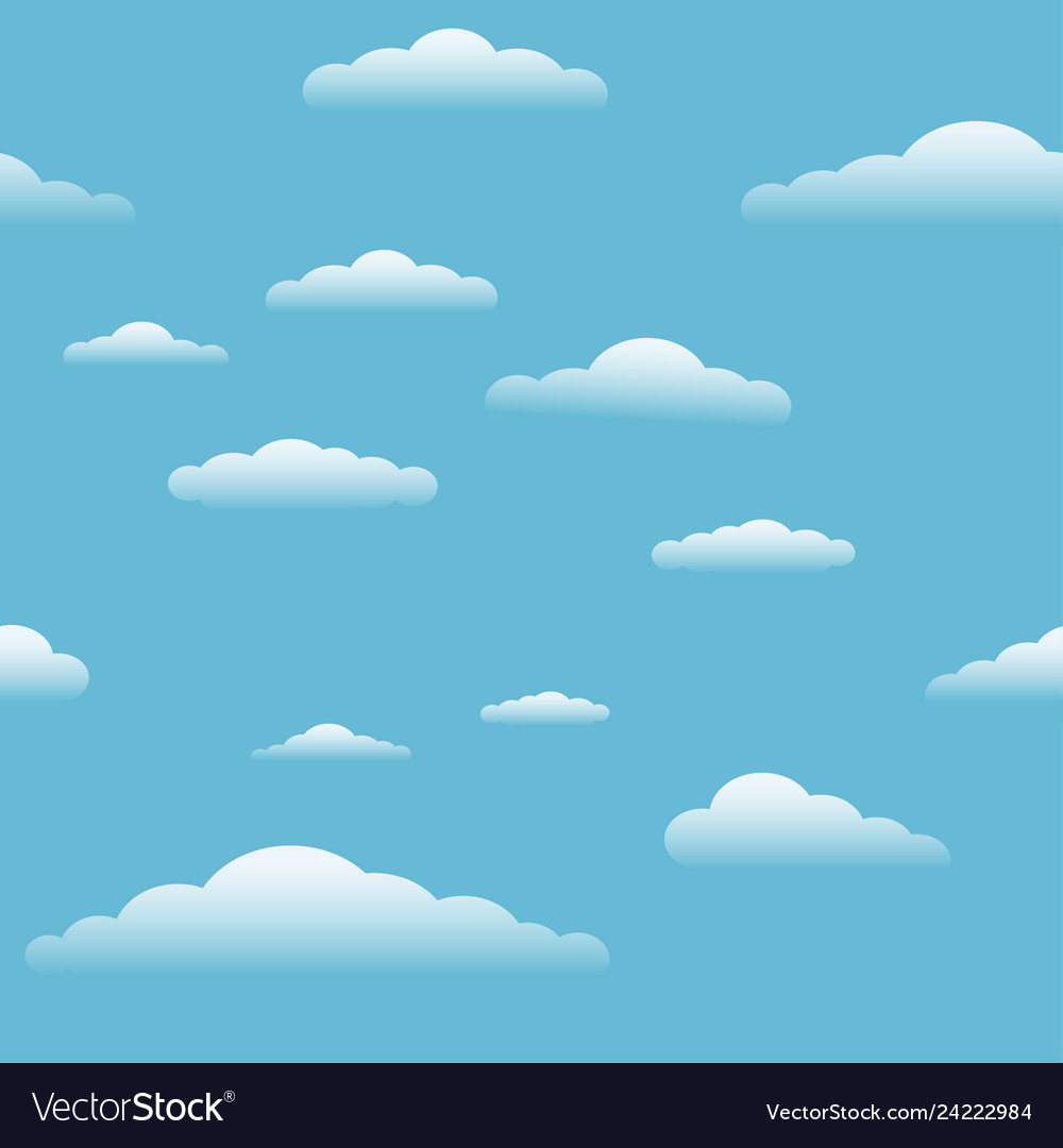 Blue sky with clouds seamless