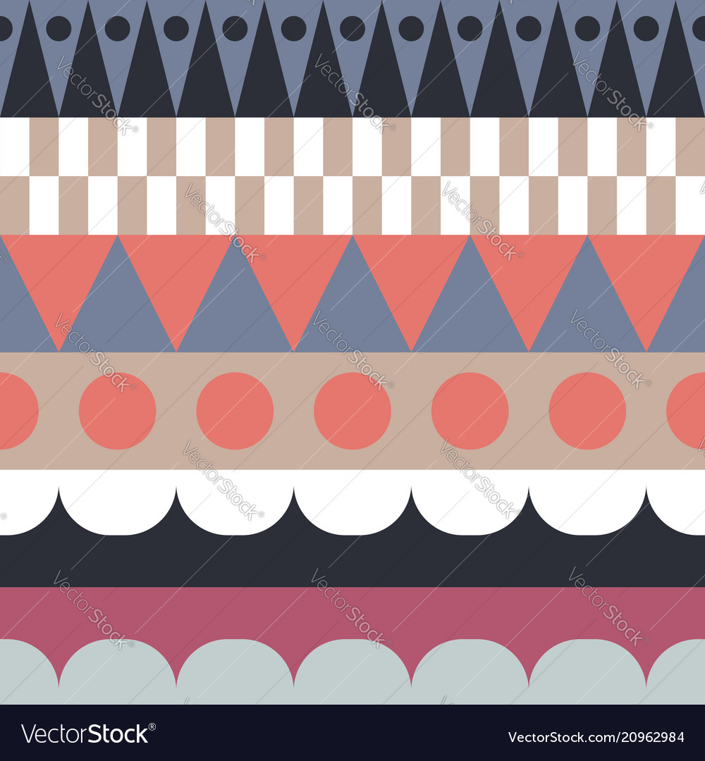 Color block rows seamless pattern