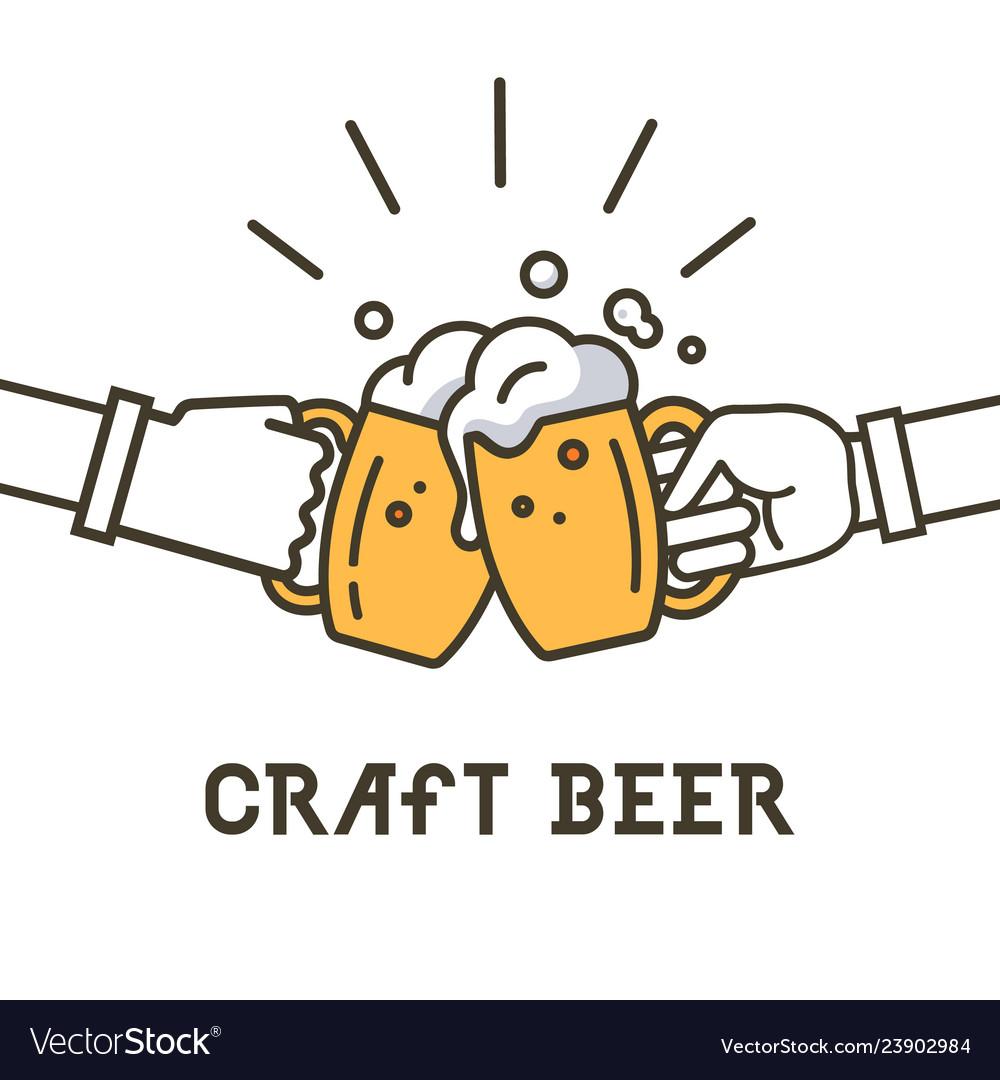 Craft beer logo lettering