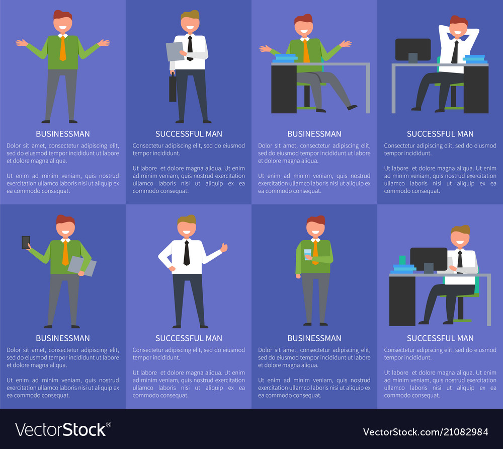 Eight icons of businessman