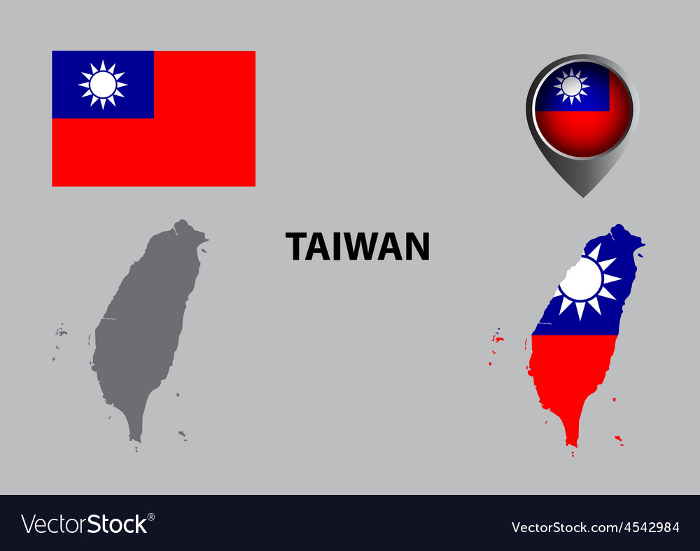 Map of Taiwan and symbol