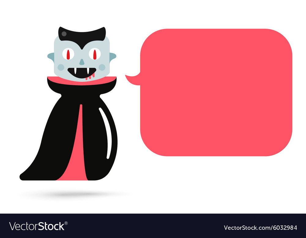 Monster halloween vampire cartoon characters