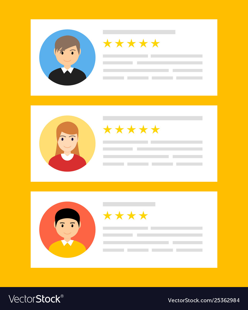 User reviews online customer feedback review