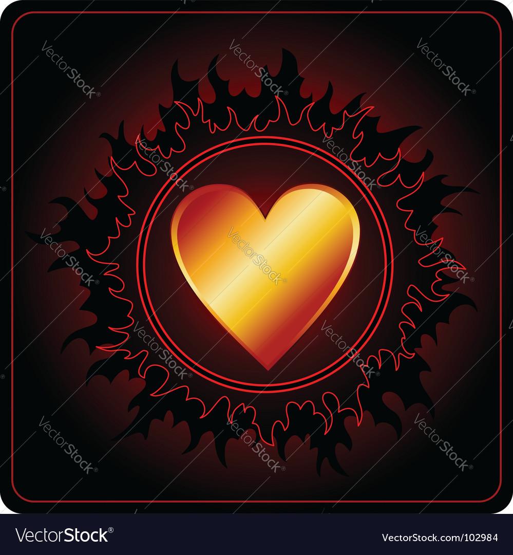 Valentines day card dark sun