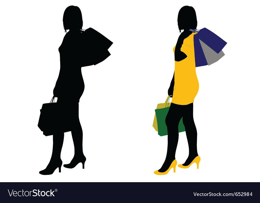 women shopping royalty free vector image vectorstock rh vectorstock com shopping victoria canada shopping victoria's secret