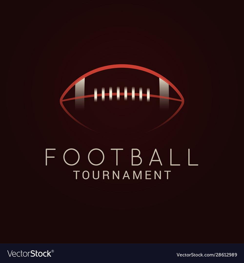American football ball tournament logo on black