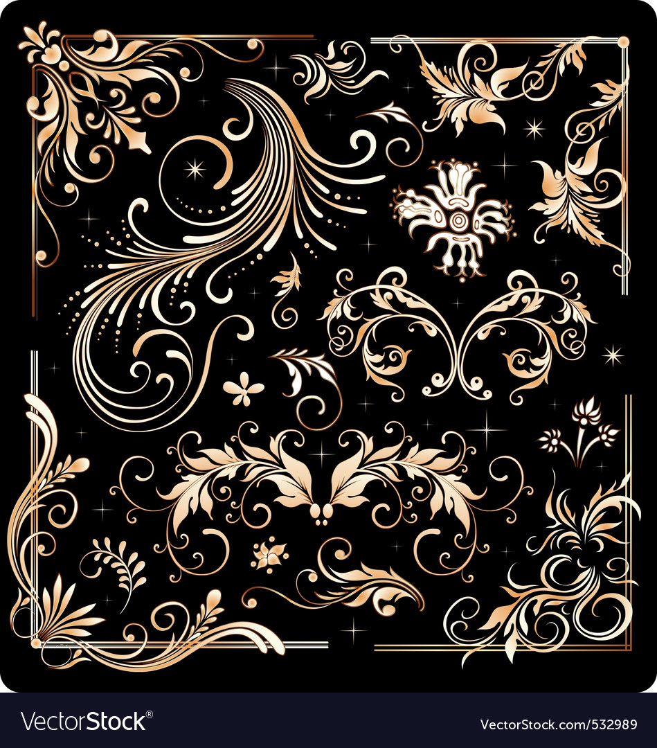 Filigree design elements