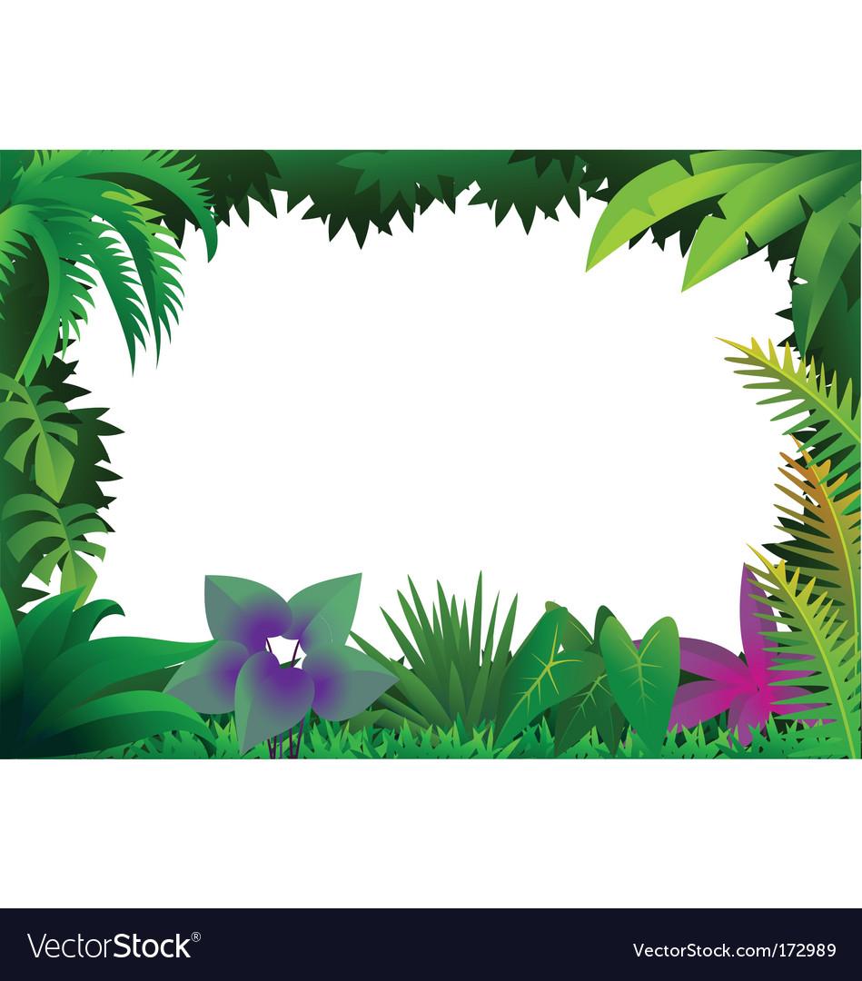 Forest frame vector image