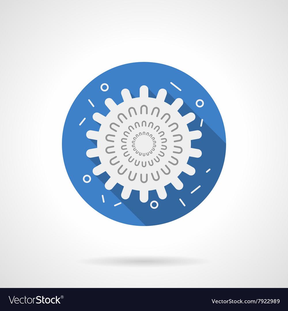 Influenza icon blue round flat icon vector image