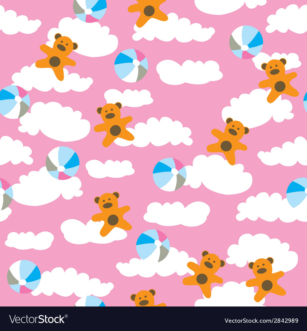Kids pattern with cloud
