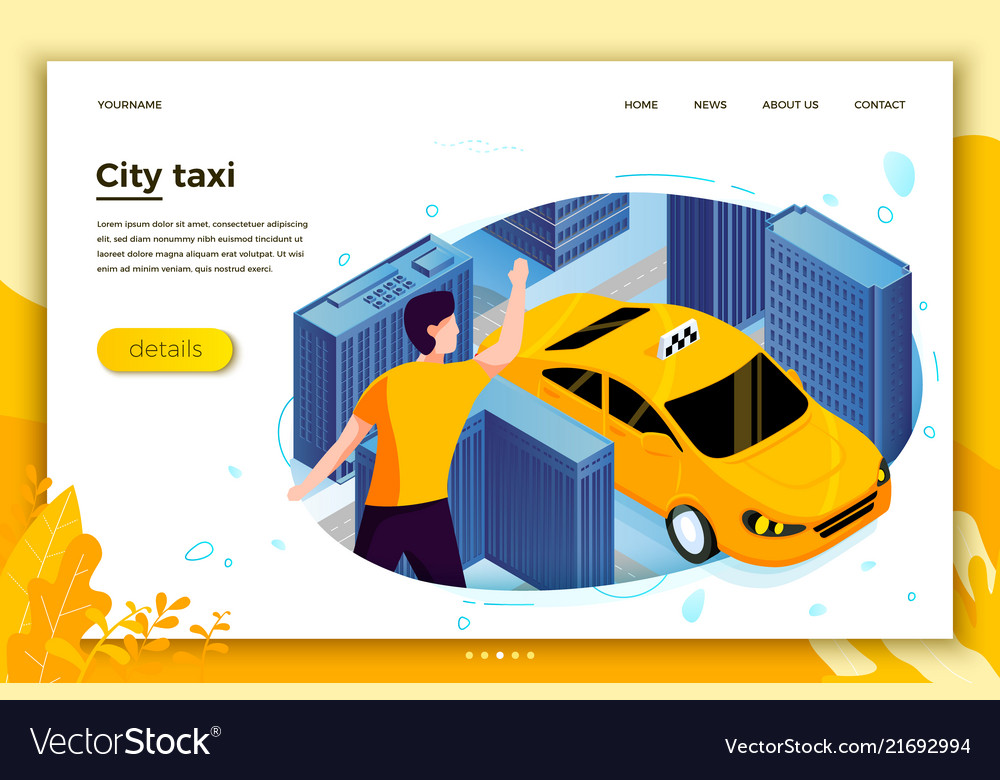 Concept man catching taxi cab