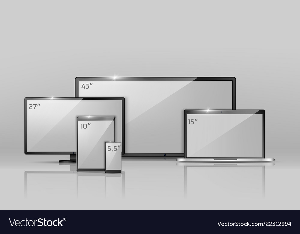Different sizes of screens - notebook