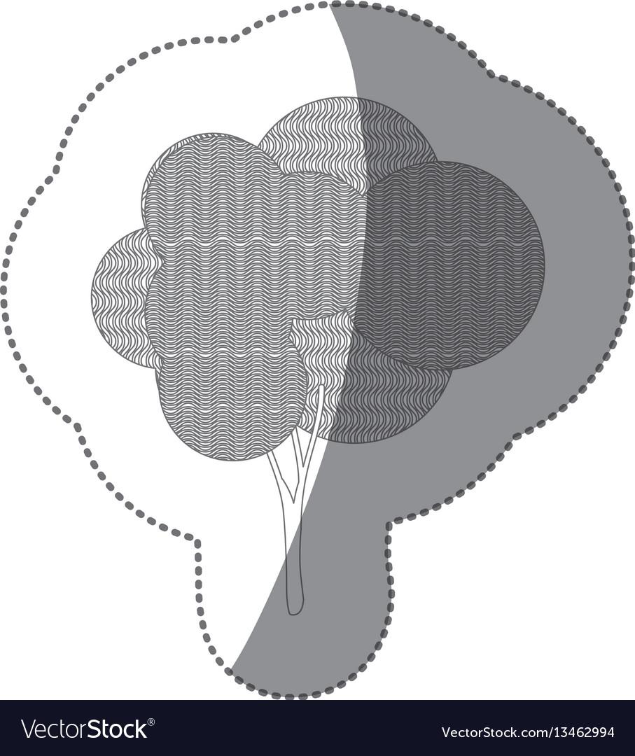Figure stamp creative tree icon
