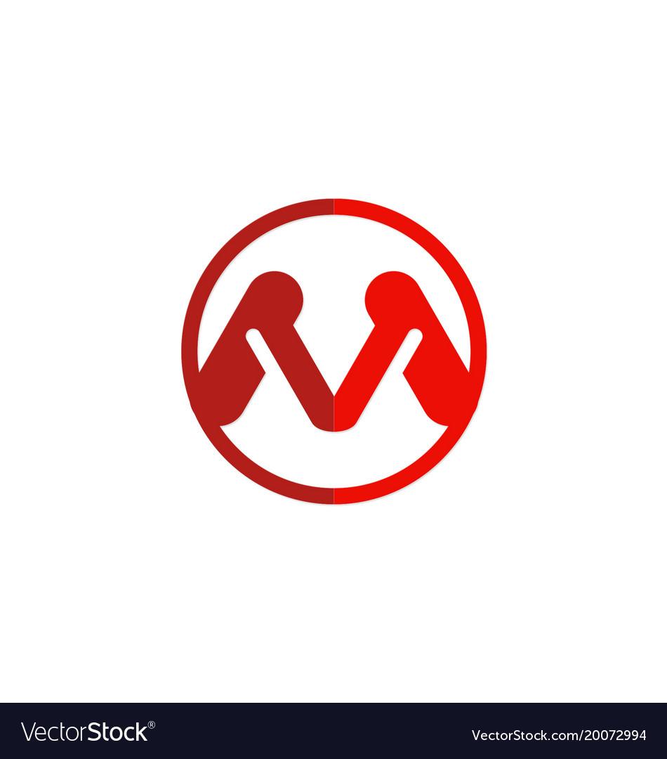 Letter m red logo