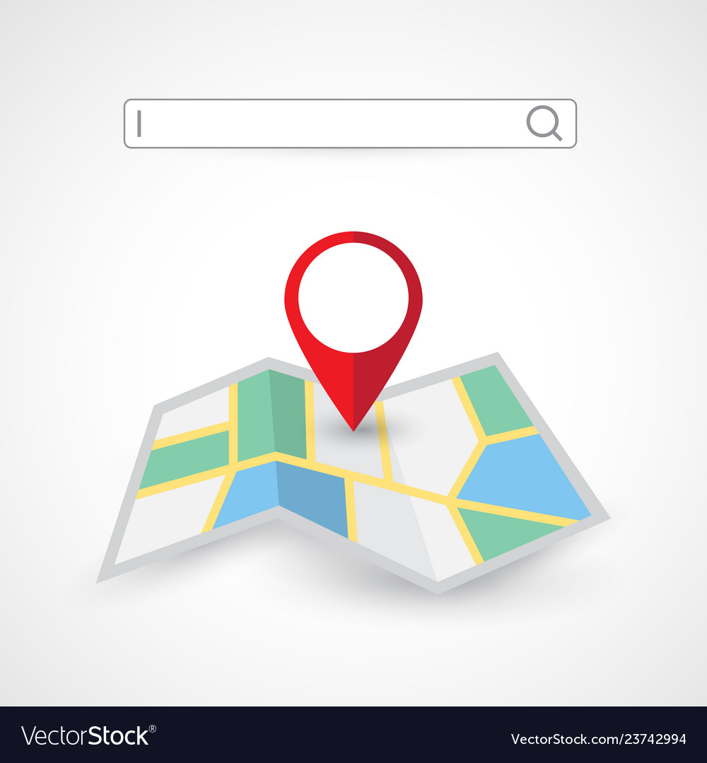 Location search folded map navigation