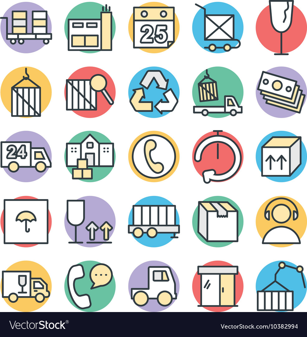 Logistic Delivery Cool Icons 3