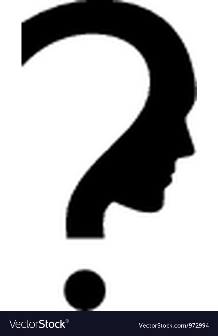 question mark with face royalty free vector image rh vectorstock com question mark vector download question mark vector png