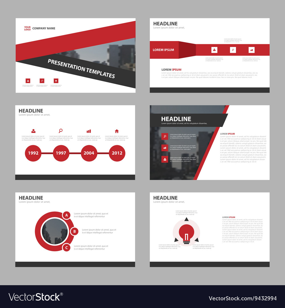 Red triangle Abstract presentation templates