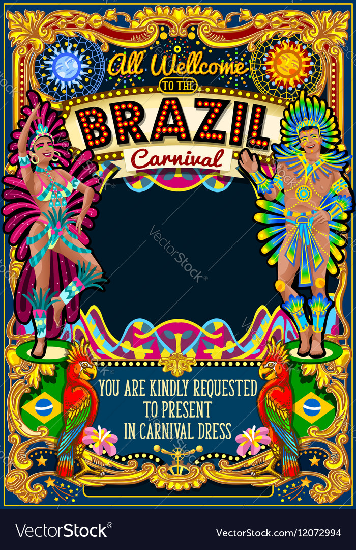 Rio Carnival Poster Theme Brazil Carnaval Mask