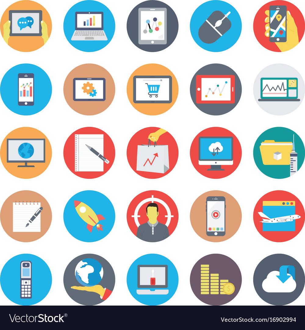 Seo and marketing flat circular icons 4