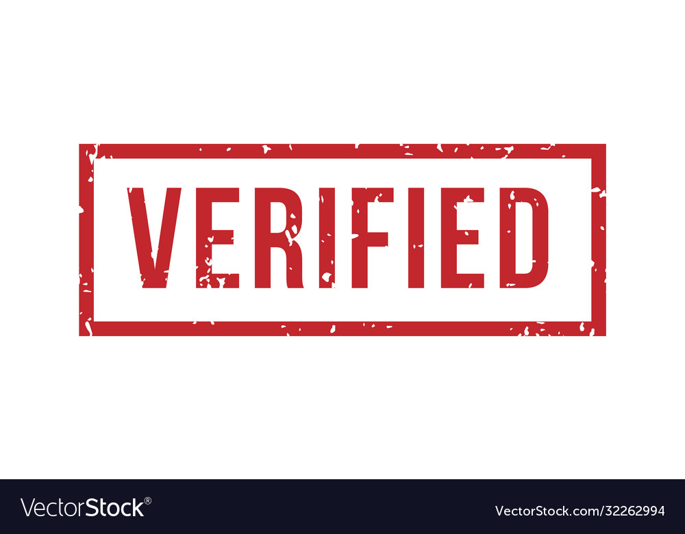 Verified rubber stamp isolated seal rubbe