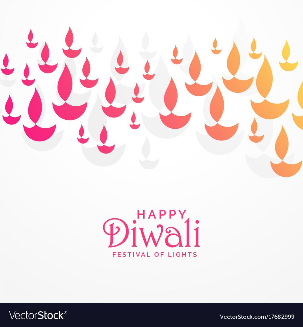Beautiful vibrant diwali greeting card design