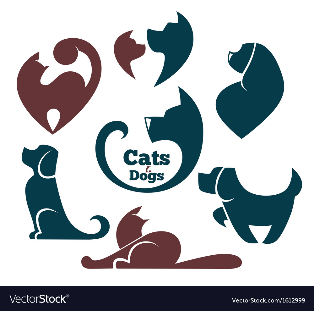 Cats And Dog Royalty Free Vector Image Vectorstock