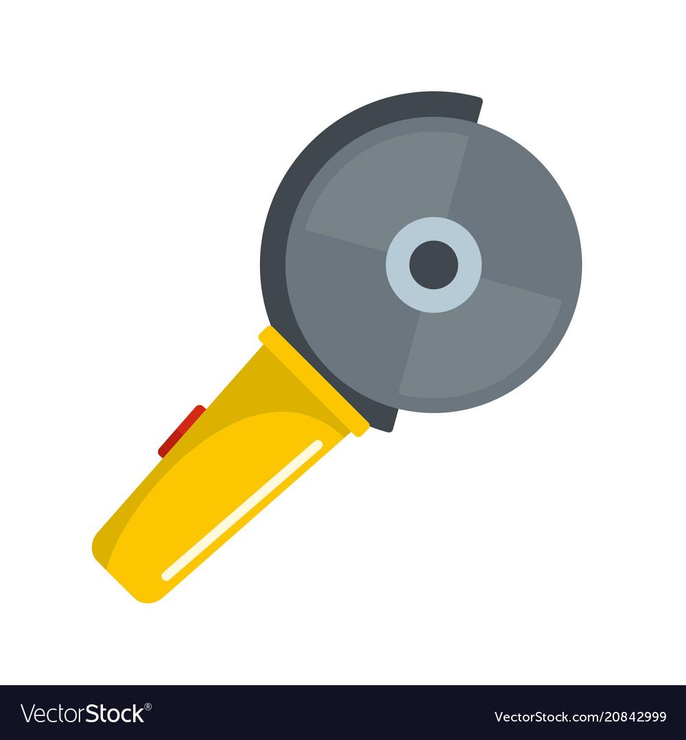 Circular saw icon flat style
