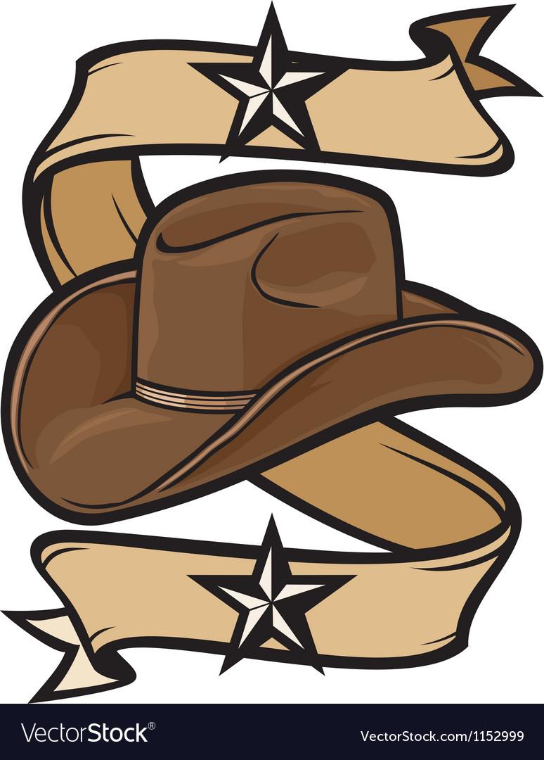 4749885c0fe Cowboy hat design Royalty Free Vector Image - VectorStock