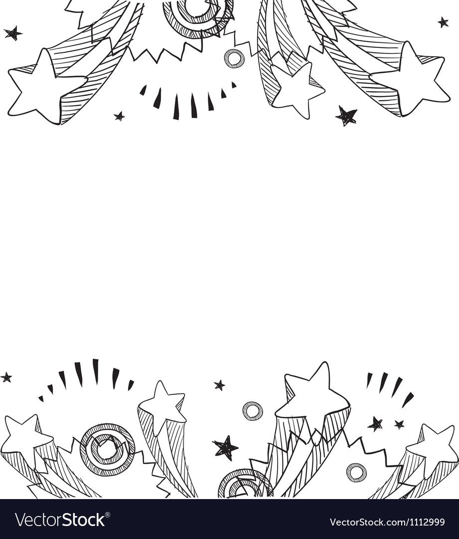 Doodle pop border horizontal
