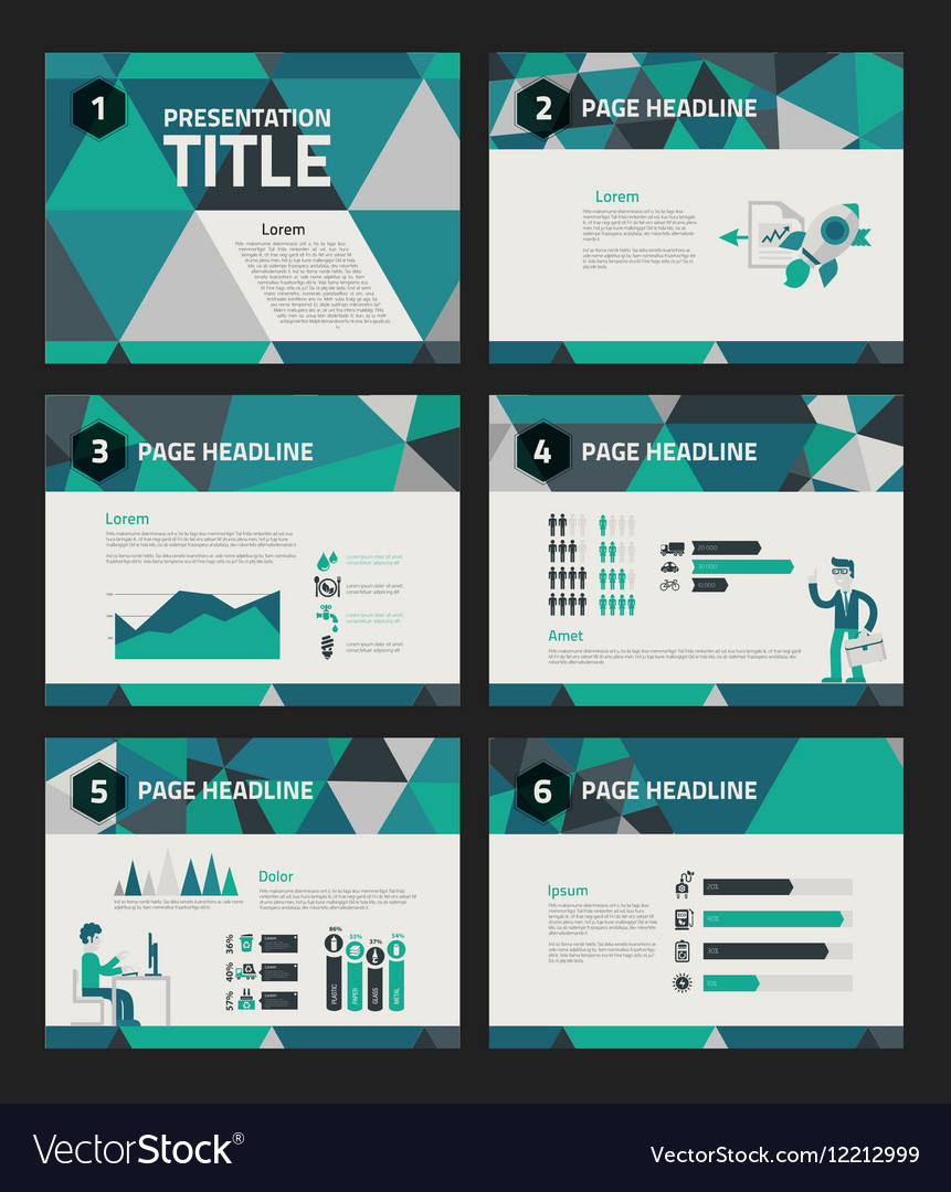 Presentation template with business infographics