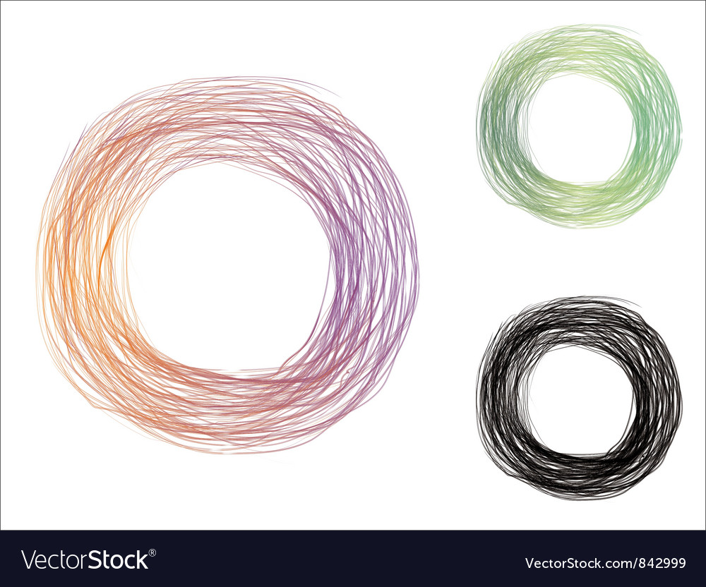 Scribble circle vector image