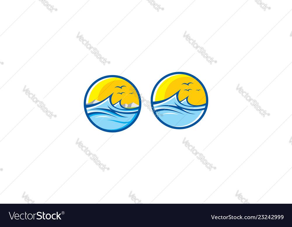Sea wave logo icon