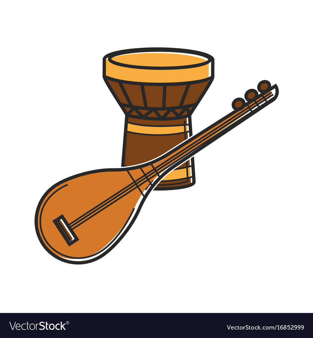 Traditional music instruments vector image