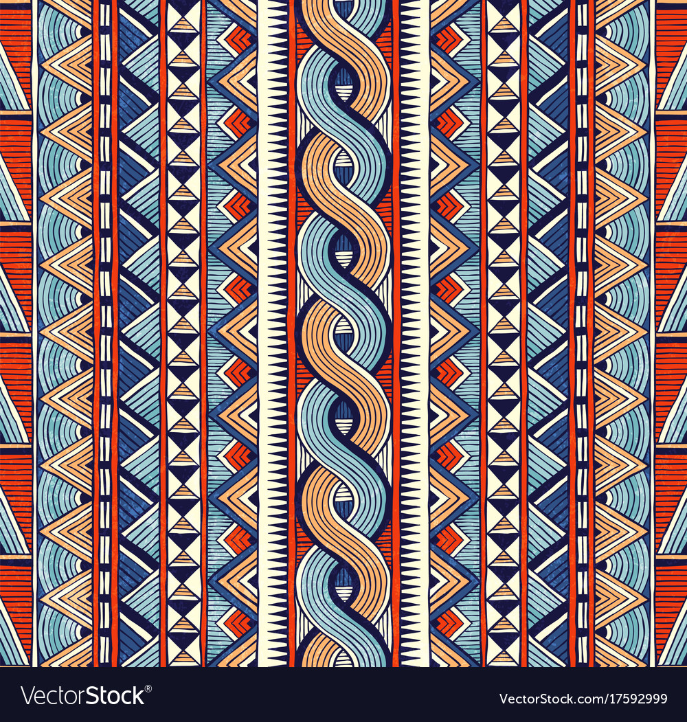 Tribal seamless ornament colorful abstract