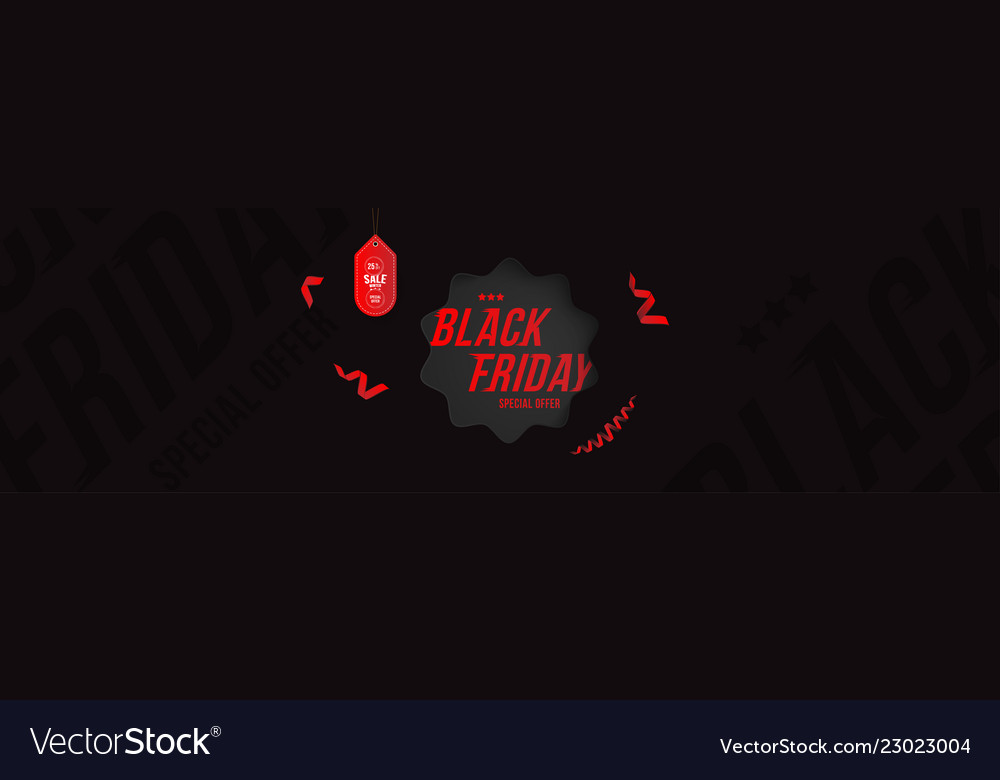 Black friday 25 off discount long poster format