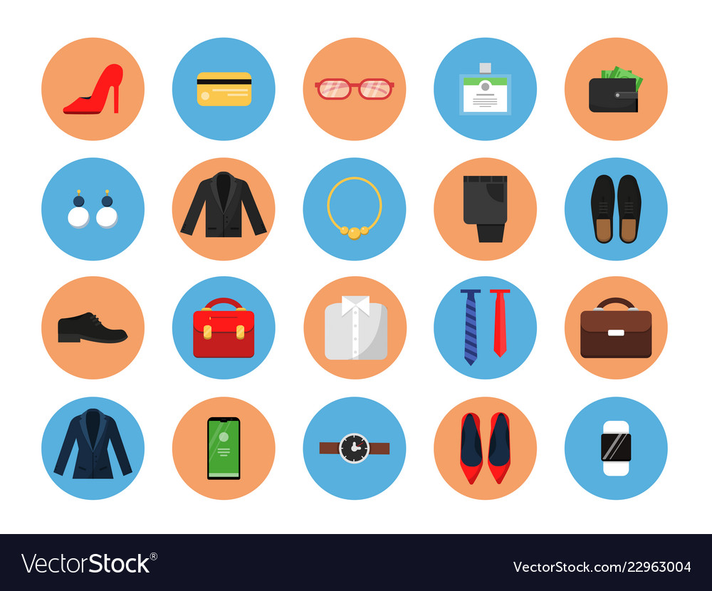 Business wardrobe icons office style clothes
