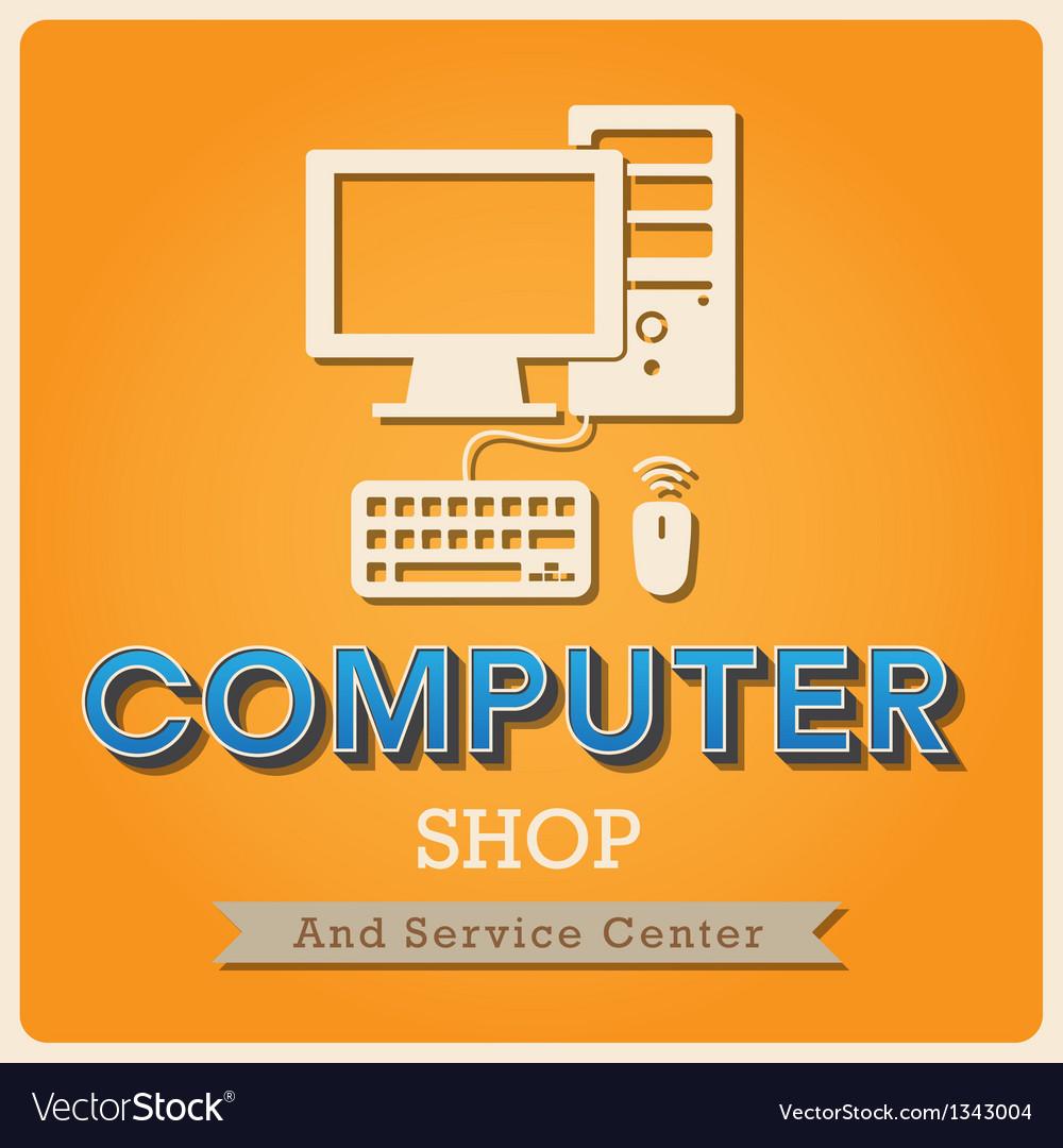 Computer shop Retro poster