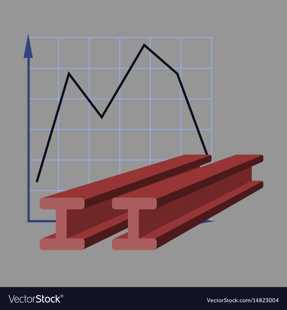 Flat icon on stylish background falling graph