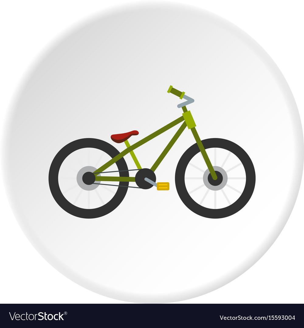Green bike icon circle