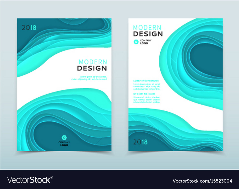 Modern design of business brochure
