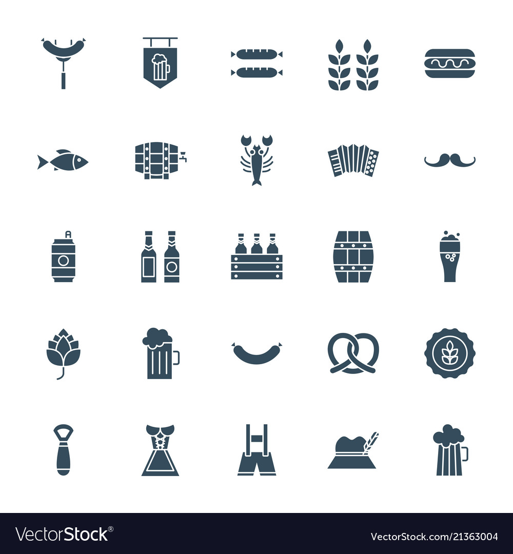Oktoberfest solid web icons