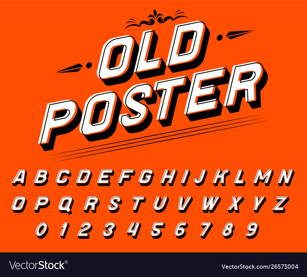 Pop art font for posters comic retro game