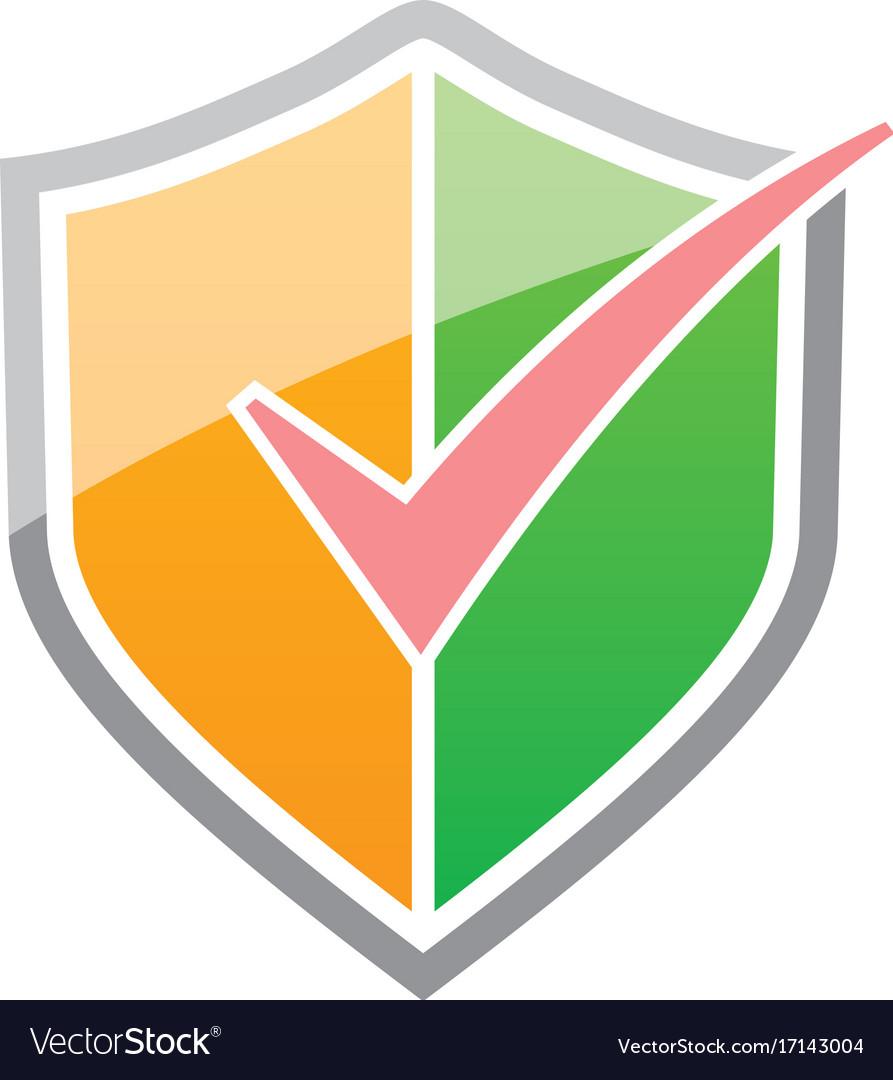 Shield check list protect logo