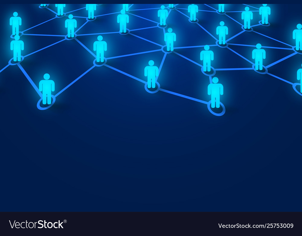 Connecting people social network concept bright