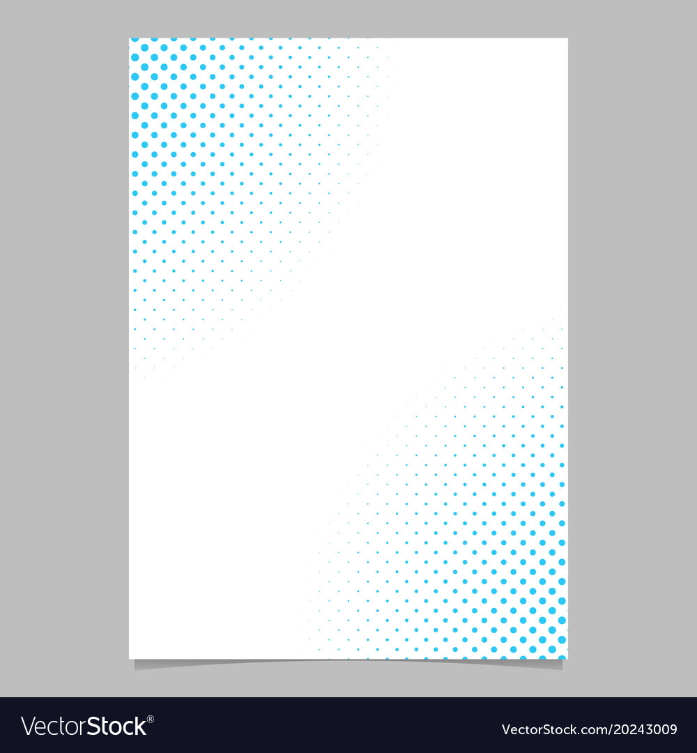 Halftone dot pattern flyer template - brochure