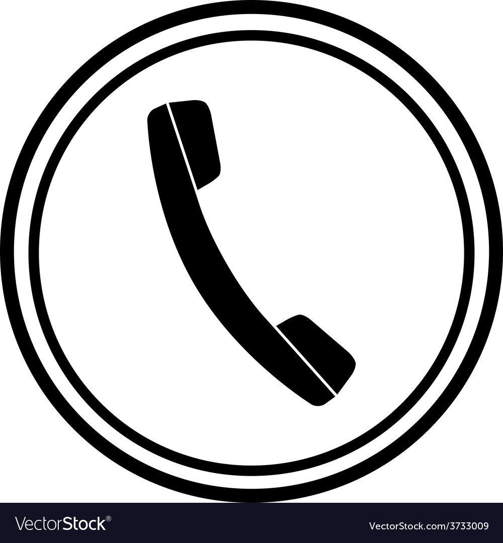icon of phone telephone royalty free vector image rh vectorstock com telephone vector free telephone vector free download